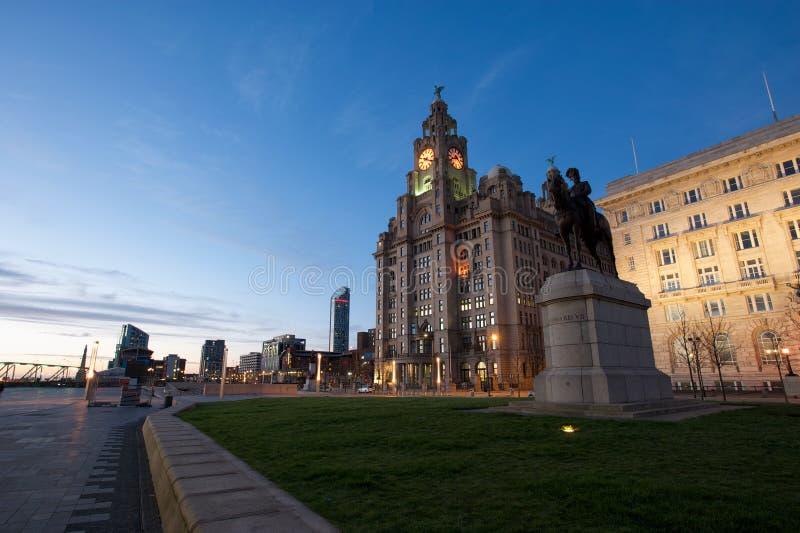 Edificio real del hígado de Liverpool imagen de archivo