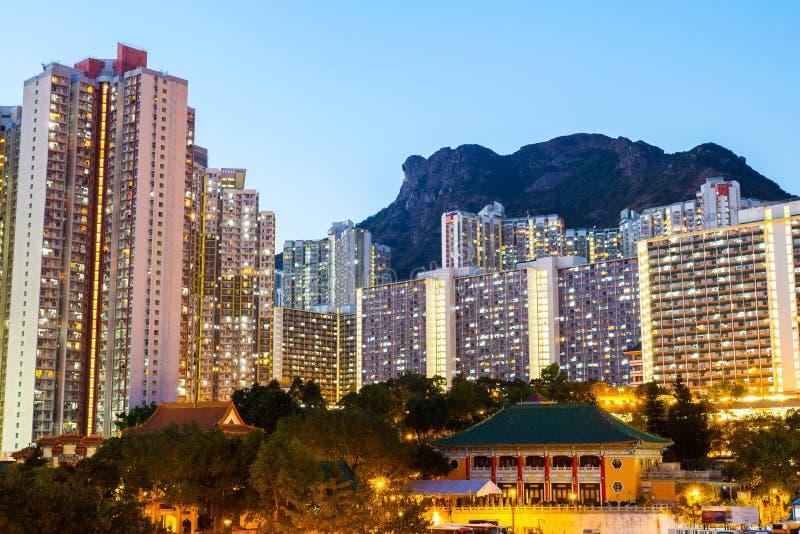 Edificio residencial de Kowloon imágenes de archivo libres de regalías