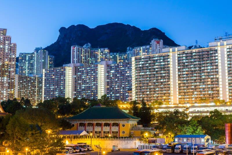 Edificio residencial de Kowloon imagenes de archivo