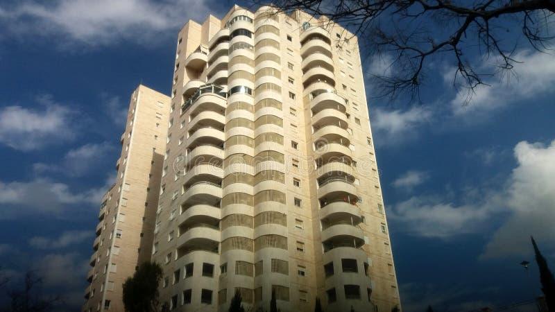 Edificio residencial moderno Ciudad modificada Israel La gente lo llama la Torre de David imágenes de archivo libres de regalías