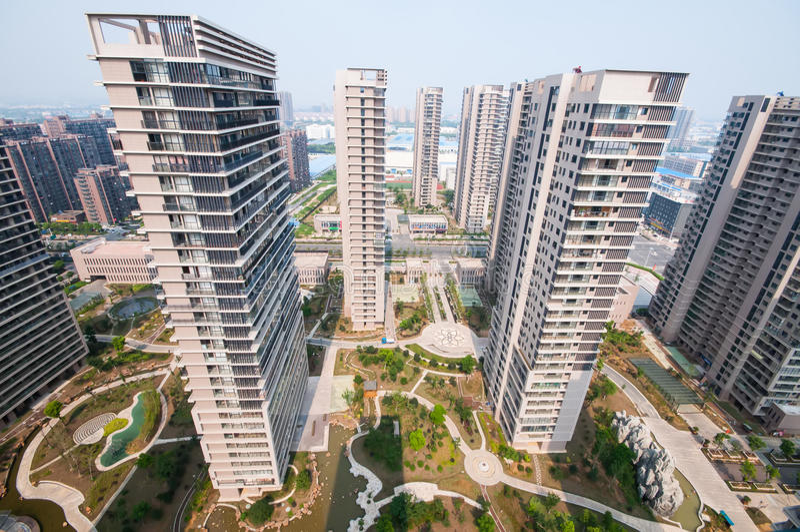 Edificio residenziale cinese immagine stock libera da diritti