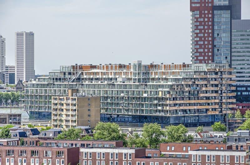 Edificio residenziale di Rotterdam Fenixlofts fotografia stock