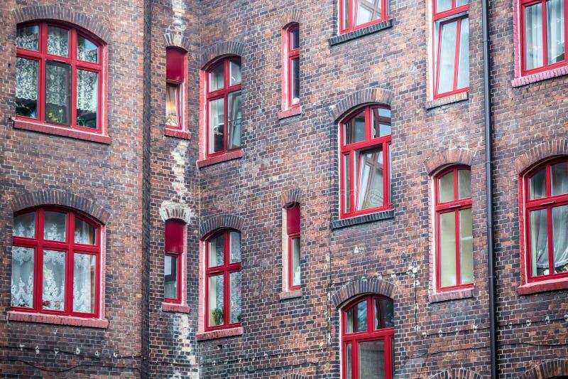 Edificio residenziale tradizionale della Slesia immagini stock