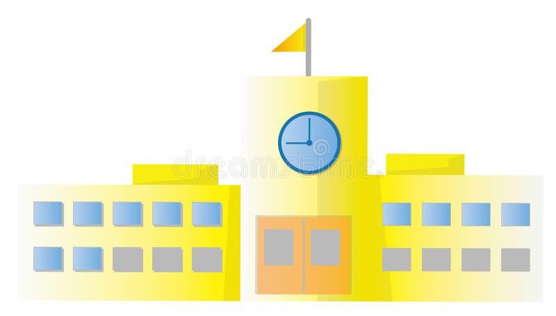 Edificio scolastico illustrazione vettoriale