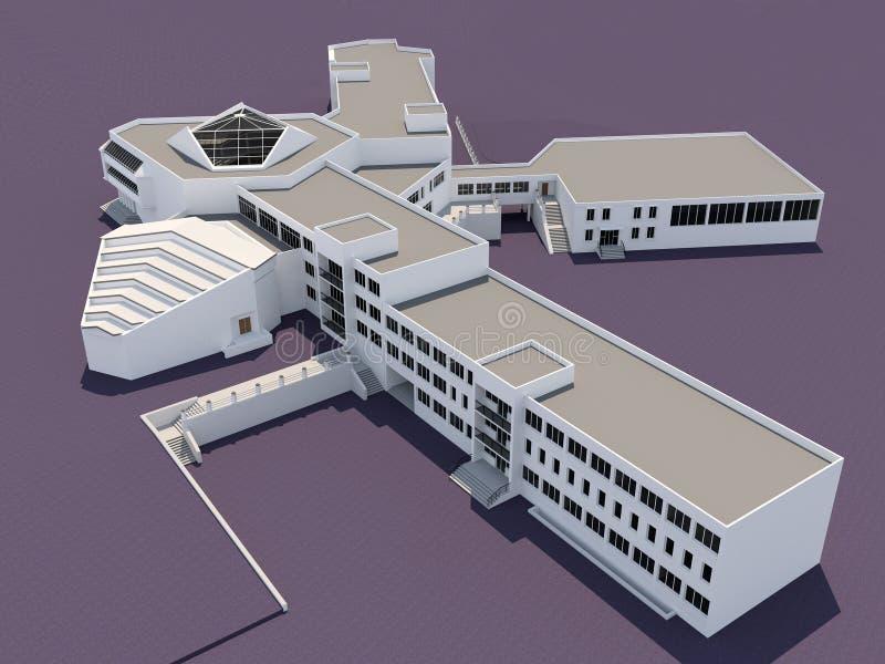 Edificio scolastico royalty illustrazione gratis