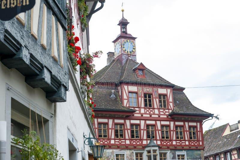 Edificio storico di Rathaus, comune amministrativo di Stein Am Rhein, Svizzera fotografia stock libera da diritti