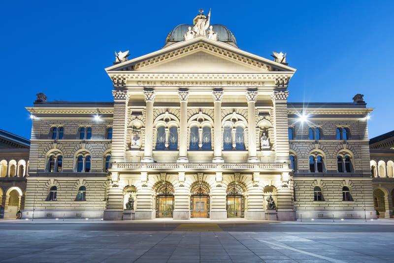 Edificio suizo del parlamento fotos de archivo