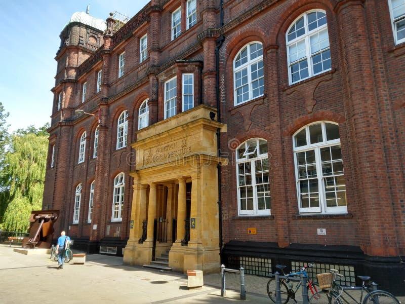 Edificio técnico histórico del instituto, Norwich, Norfolk, Reino Unido foto de archivo