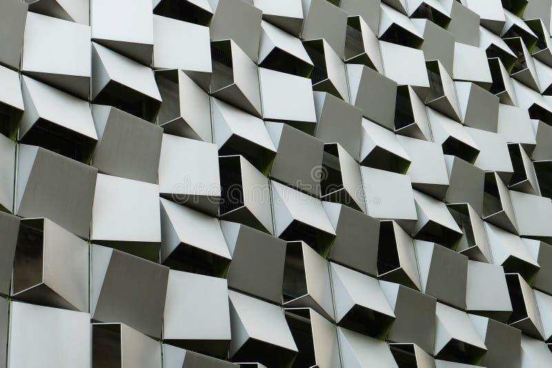 Edificio tallado de mirada moderno fotos de archivo