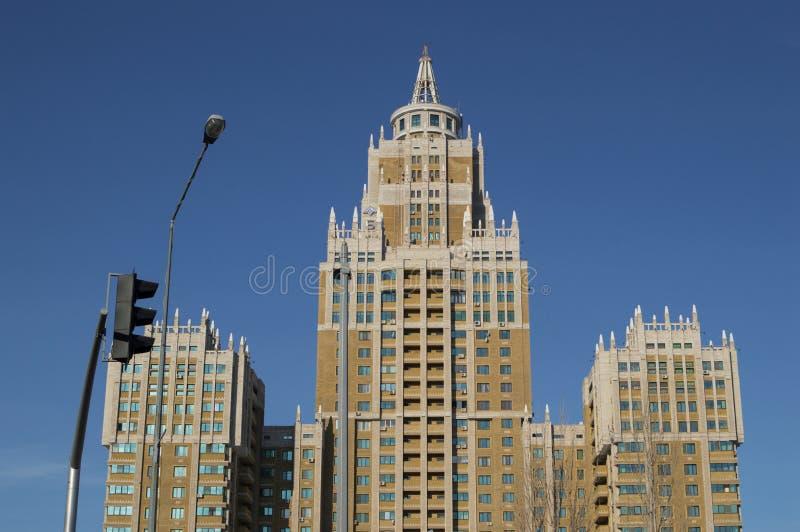 Edificio triunfo en Astaná, Kazajistán imágenes de archivo libres de regalías