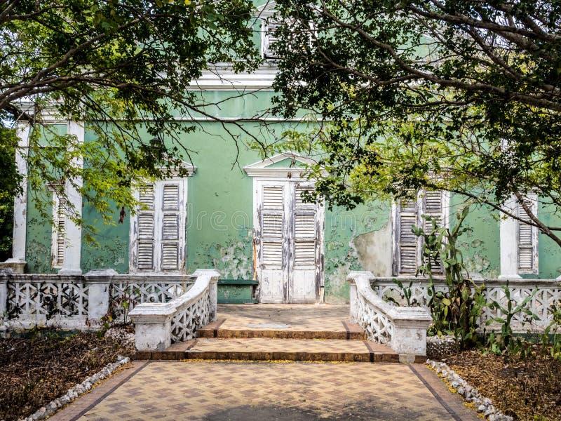 Edificio verde de Scharloo imagenes de archivo