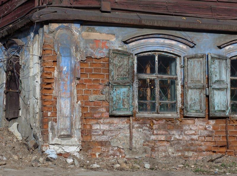 Edificio viejo abandonado imágenes de archivo libres de regalías