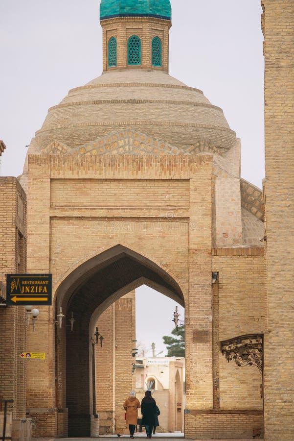 Edificio viejo antiguo histórico del Islam, Bukhara, Uzbekistán fotografía de archivo libre de regalías