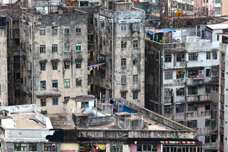 Edificio viejo de Hong Kong foto de archivo