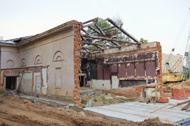 Edificio viejo del cine en Minsk, Bielorrusia imagen de archivo