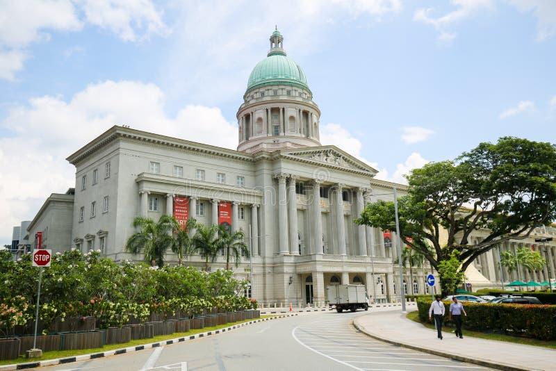 Edificio viejo del Tribunal Supremo, Singapur imagenes de archivo