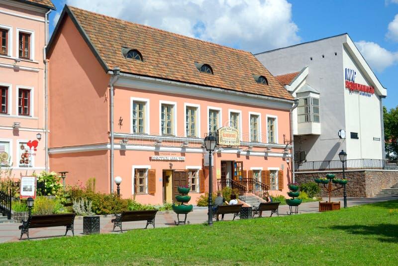 Edificio viejo en el suburbio de la trinidad en Minsk imagen de archivo libre de regalías