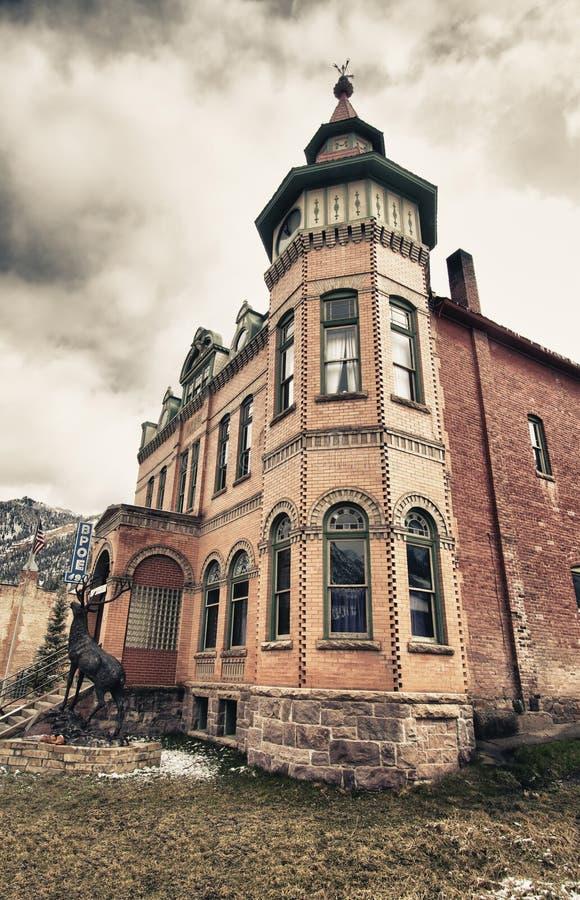 Edificio viejo en la ciudad de Ouray, Colorado foto de archivo libre de regalías
