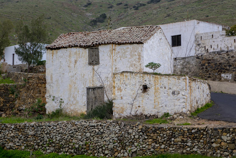 Edificio viejo en las islas Canarias Las Palmas España de Fuerteventura fotos de archivo libres de regalías