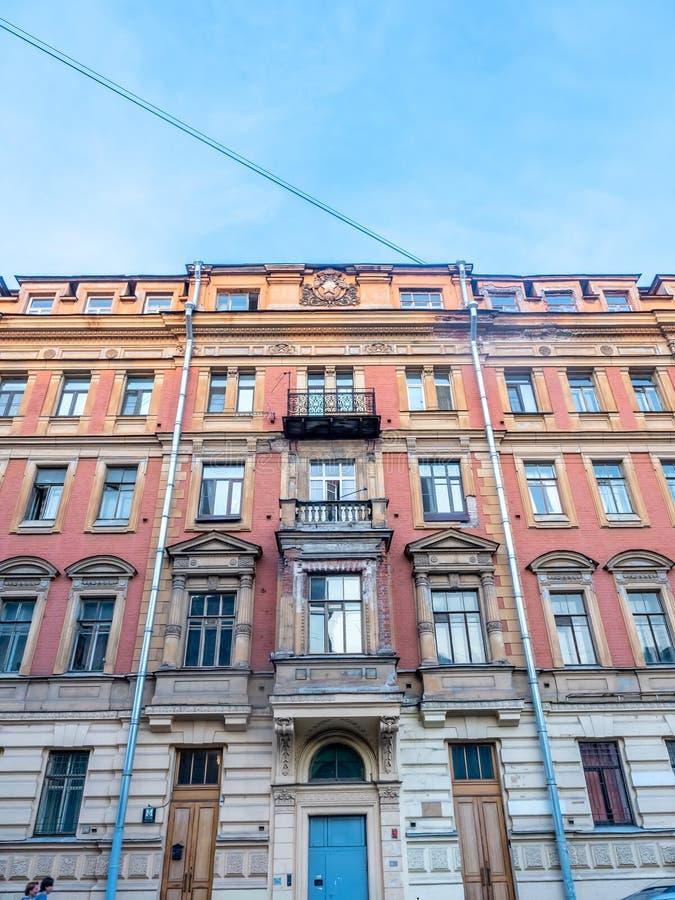 Edificio viejo en St Petersburg, Rusia imágenes de archivo libres de regalías