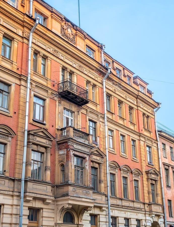 Edificio viejo en St Petersburg, Rusia foto de archivo libre de regalías