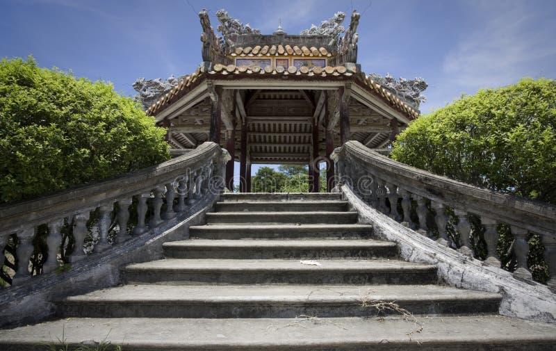 Edificio viejo en tonalidad en Vietnam fotos de archivo libres de regalías