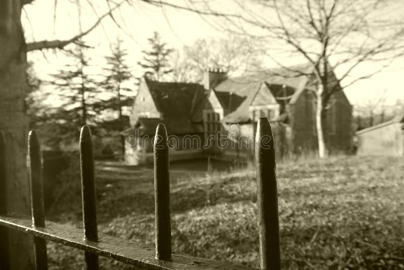 Edificio viejo espeluznante foto de archivo libre de regalías