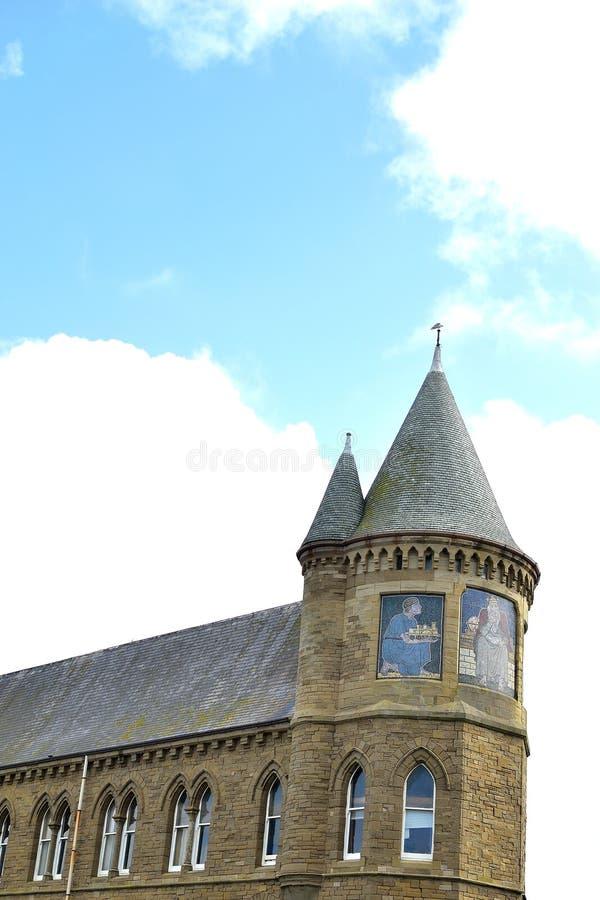 edificio viejo hermoso de la universidad de Aberystwyth en País de Gales fotos de archivo