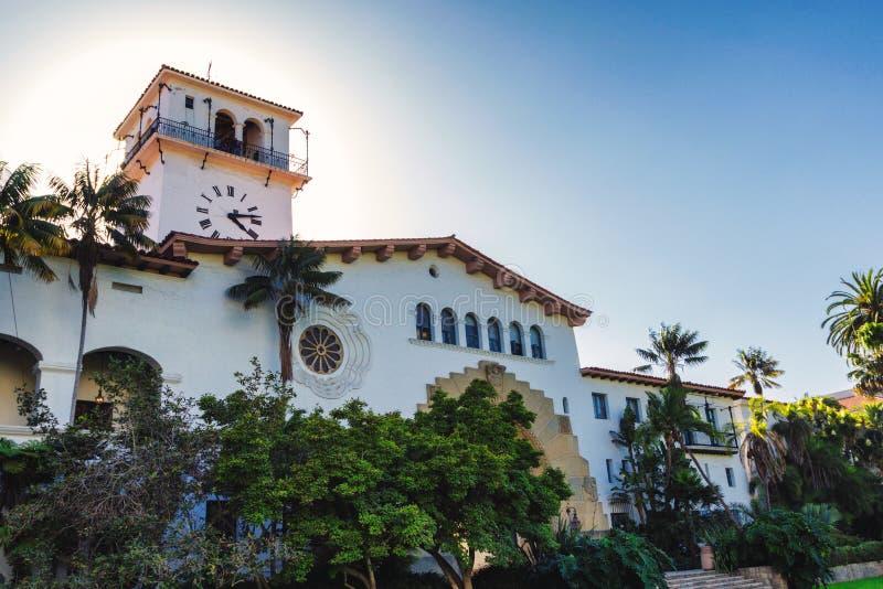Edificio viejo hermoso del tribunal en Santa Barbara imagen de archivo