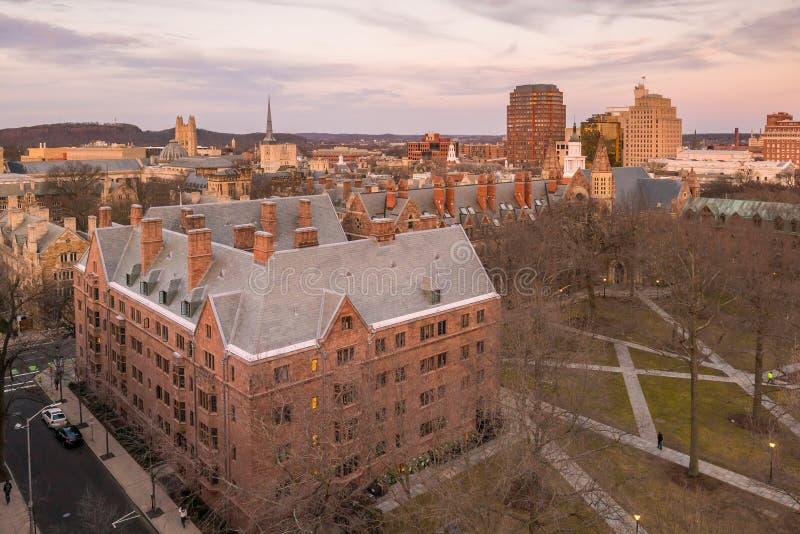 Edificio y campus de Universidad de Yale históricos fotos de archivo libres de regalías