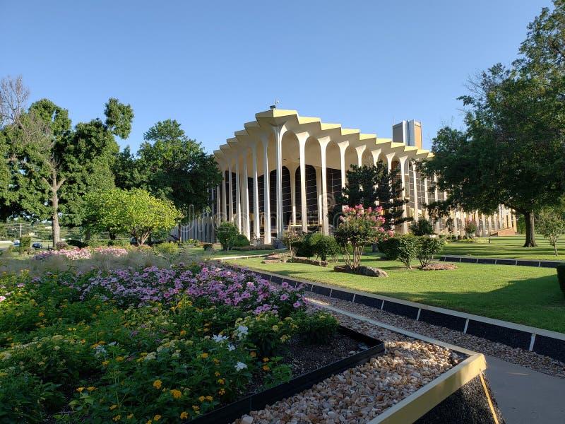 Edificio y paisajes en Roberts University oral fotos de archivo libres de regalías