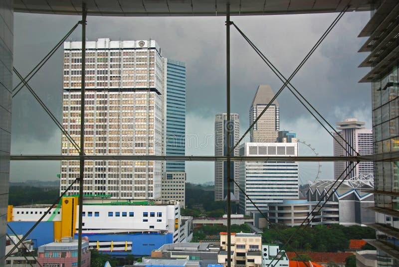 Edificio y rascacielos modernos fotografía de archivo