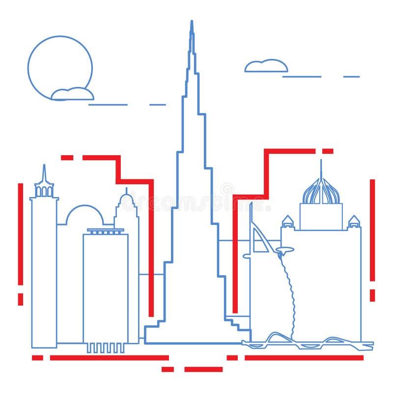 Edificio y rascacielos Vuelo del pájaro - 1 Configuración stock de ilustración