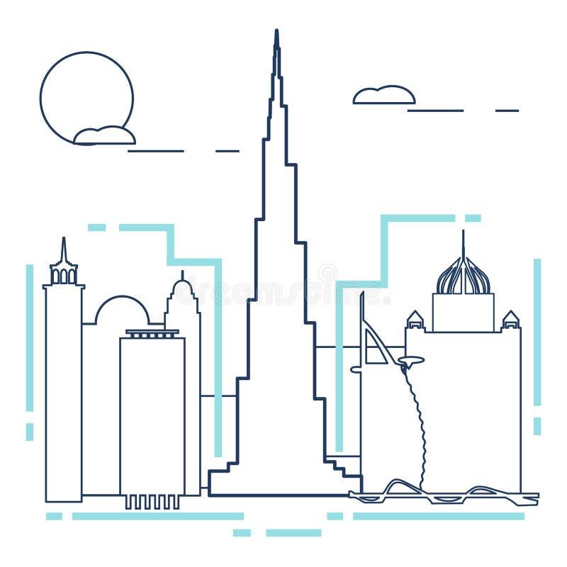 Edificio y rascacielos Vuelo del pájaro - 1 Configuración libre illustration