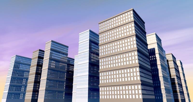 Edificio y Skyscapers imagen de archivo