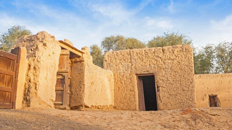 Edificios agrícolas viejos en Jimi Oasis, UAE fotografía de archivo libre de regalías