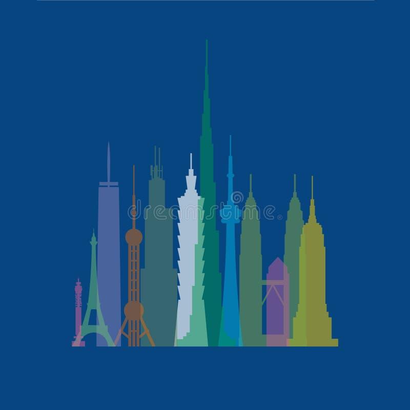 Edificios altos libre illustration