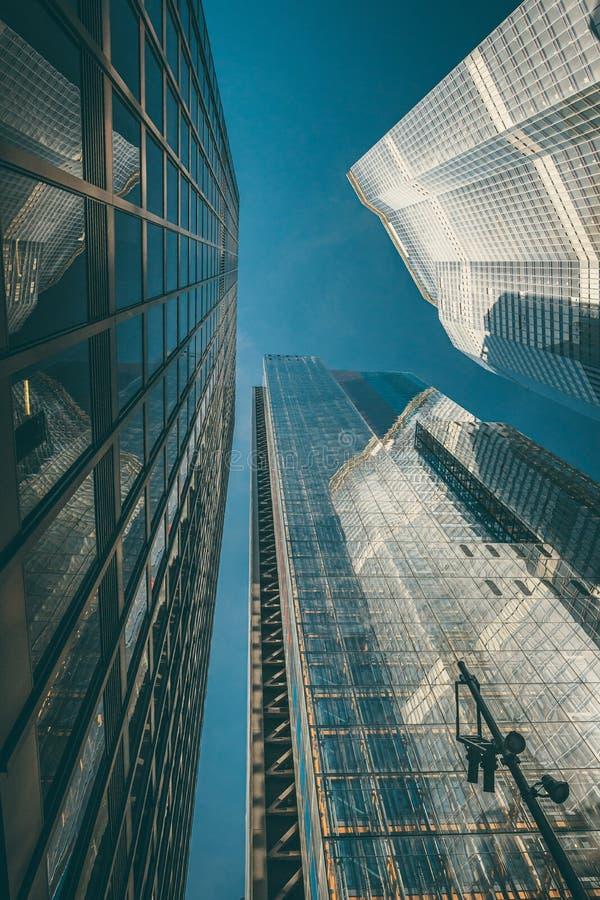 Edificios altos de cristal en Londres fotos de archivo libres de regalías