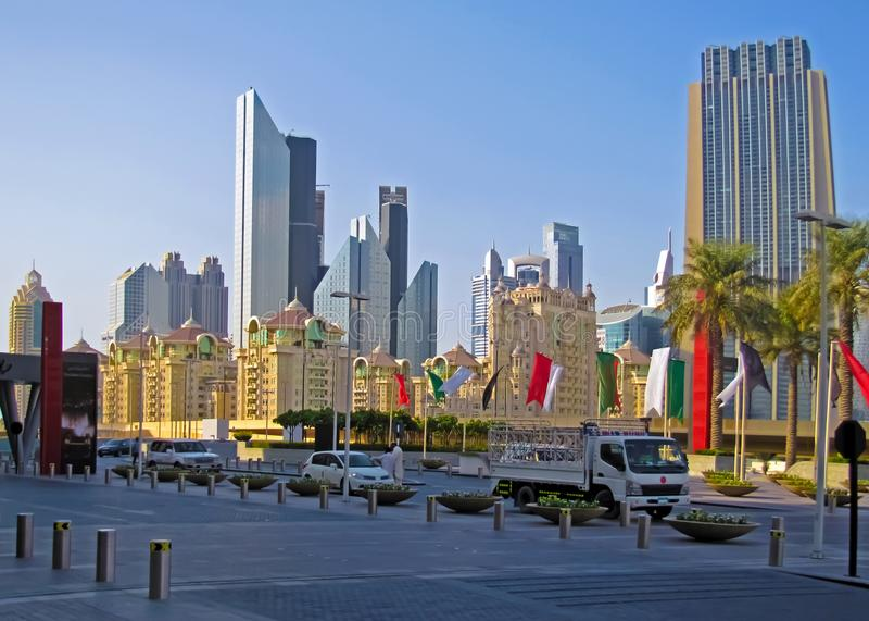 Edificios altos en Dubai fotos de archivo