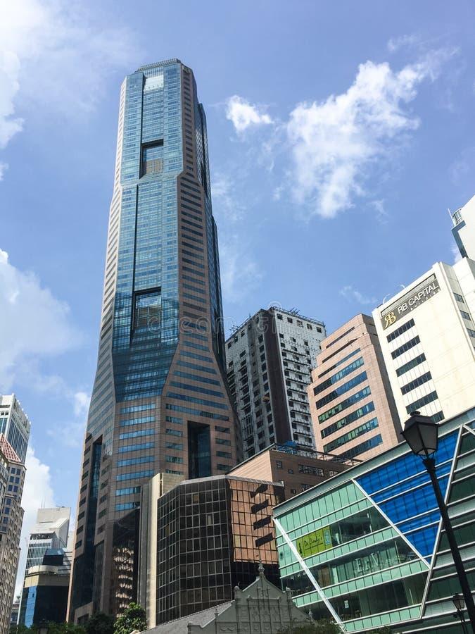 Edificios altos en Singapur imágenes de archivo libres de regalías