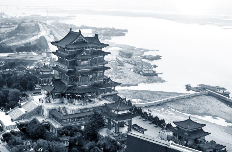 Edificios antiguos chinos, poéticos imagenes de archivo