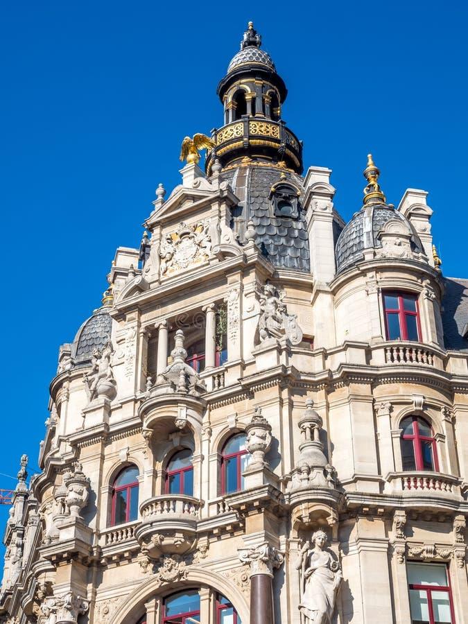 Edificios barrocos en Amberes imagenes de archivo