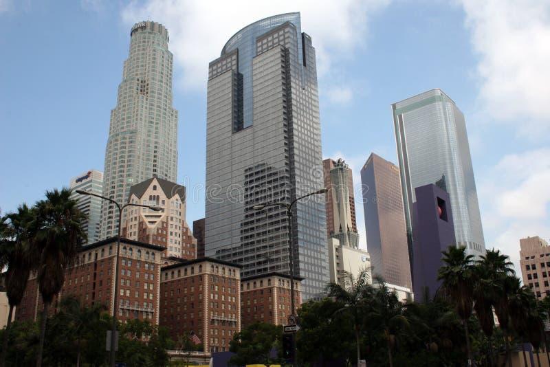 Edificios céntricos de Los Ángeles imagen de archivo libre de regalías