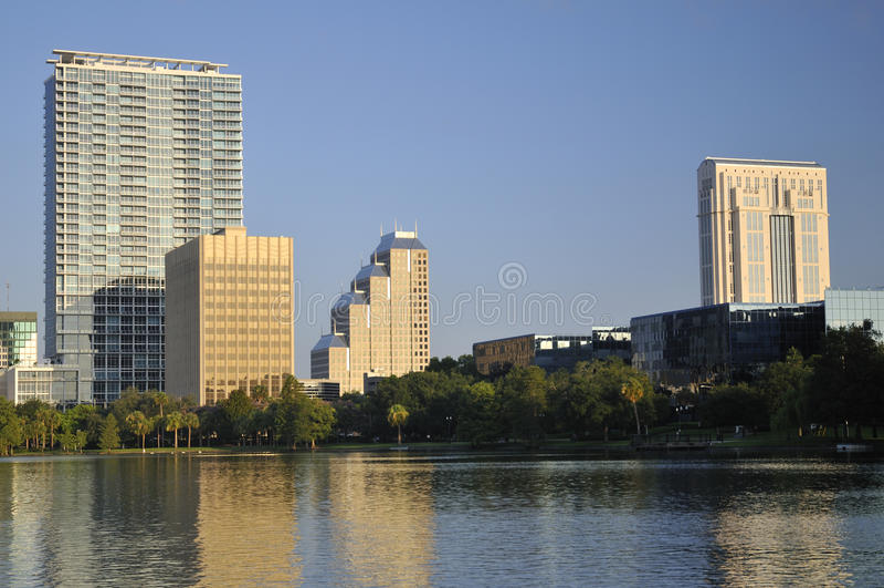 Edificios céntricos de Orlando imagen de archivo