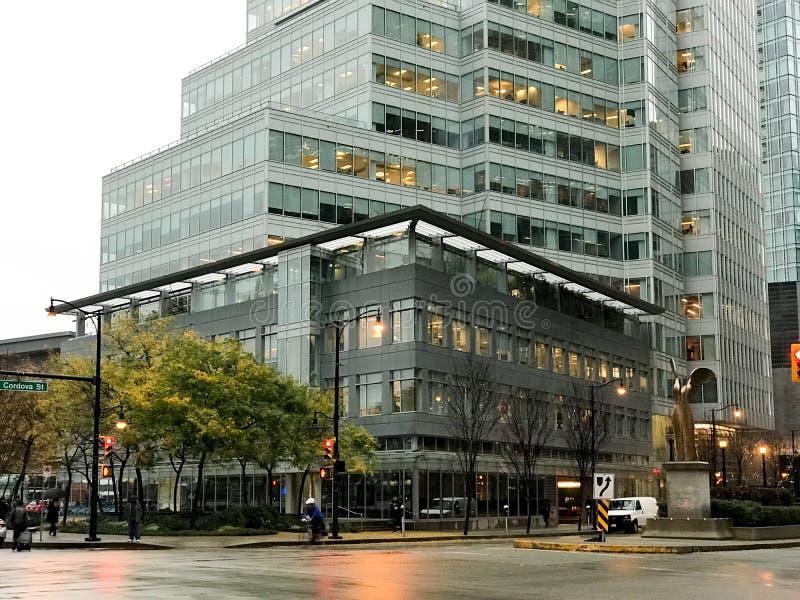 Edificios céntricos en Vancouver, Columbia Británica fotos de archivo libres de regalías