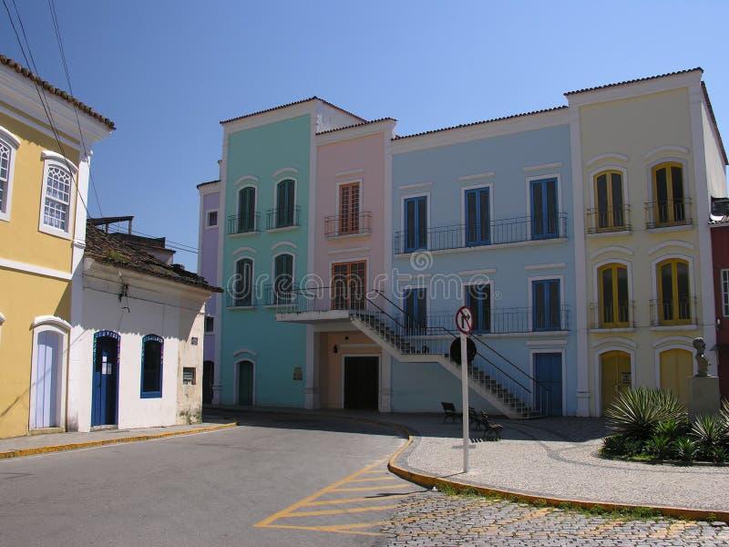 Edificios coloniales fotos de archivo