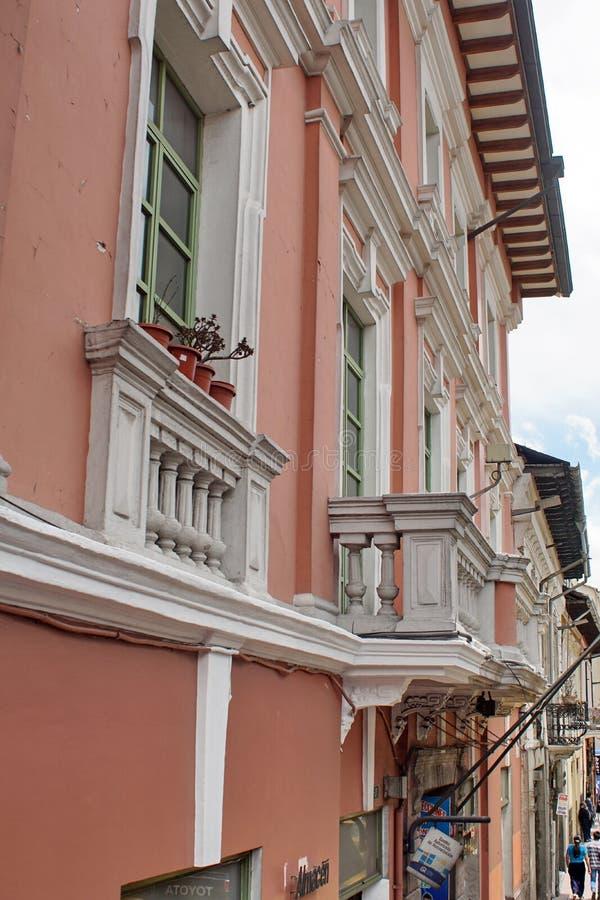 Edificios coloniales en Quito fotografía de archivo