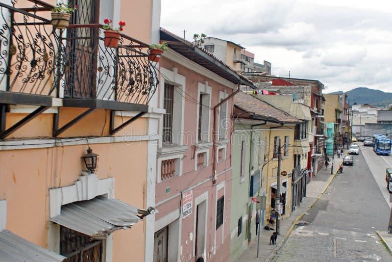 Edificios coloniales en Quito imágenes de archivo libres de regalías