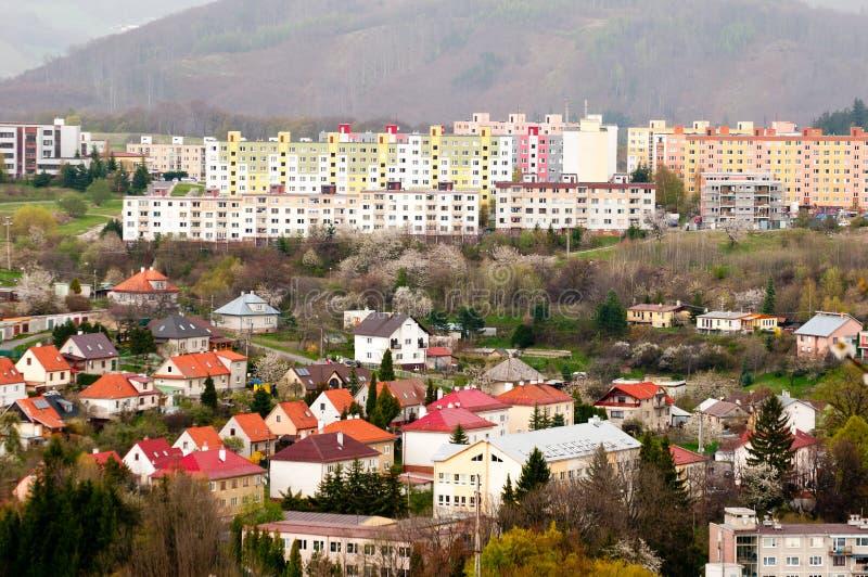Edificios coloridos imagen de archivo