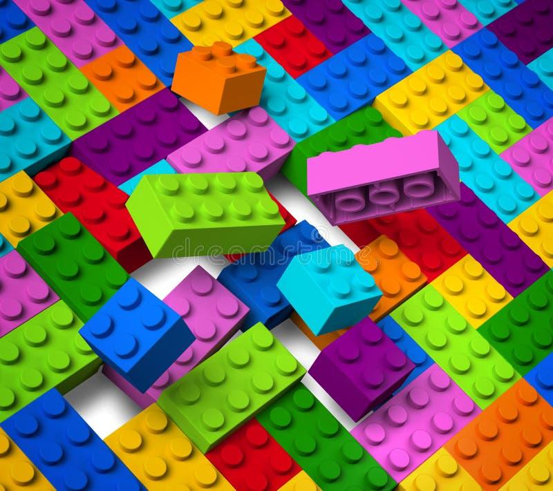 Edificios coloridos que explotan en 3D fotografía de archivo